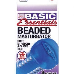 Basic essentials beaded masturbator