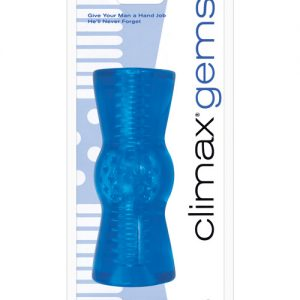 Climax gems hand job stroker - aquamarine