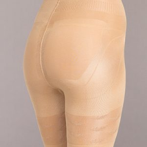Silicone Stay Up Strapless Mid-Thigh Body Shaper - Nude - XL
